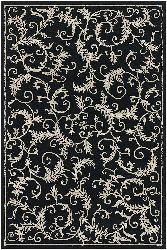 Hand-tufted Mandara Black/ Ivory Rug (9' x 13')