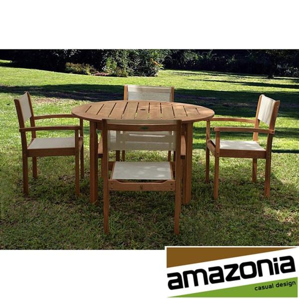 Amazonia Torino 5-piece Outdoor Dining Set
