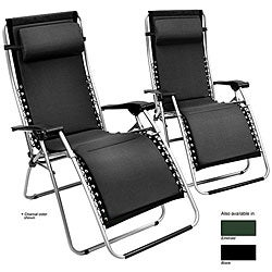 Zero Gravity Foam-padded Recliner Set (Set of 2)