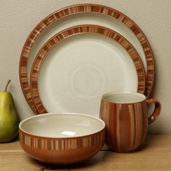 Denby Fire Stripes 4-piece Place Setting