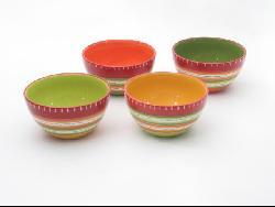 Certified International Hot Tamale Ice Cream Bowls (Set of 4)