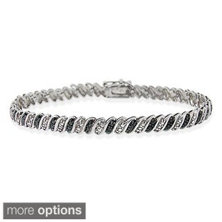 DB Designs Sterling Silver Diamond Accent Bracelet