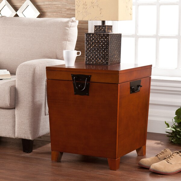 Upton Home Pyramid Trunk End Table