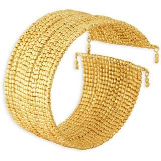 Nexte 18k Gold Overlay 'Agra Golden Nugget' Bracelet