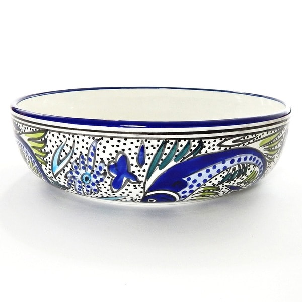 Aqua Fish Wide Salad/ Pasta Bowl (Tunisia)