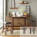 TRIBECCA HOME Nova Cherry 3-piece Kitchen Counter Height Dining Set