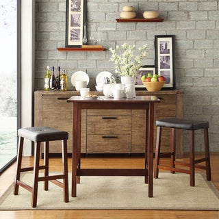 TRIBECCA HOME Nova Cherry 3-piece Kitchen Counter Height Dining Set