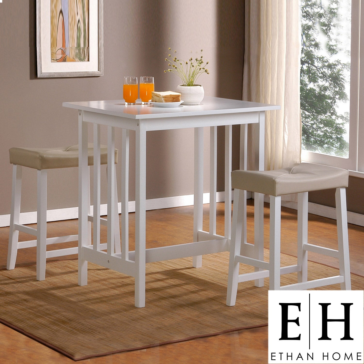 AT HOME by O ETHAN HOME Nova White 3-piece Kitchen Counter Height Dining Set at Sears.com