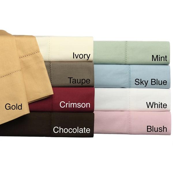 Camden Hemstitch Solid 350 Thread Count Egyptian Cotton 6-piece Sheet Set