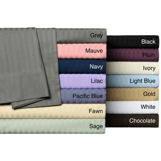 Wrinkle Resistant Woven Stripe All Cotton Sheet Set