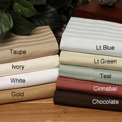 Wrinkle-resistant 300 Thread Count Stripe Cotton Pillowcases