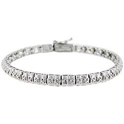DB Designs Sterling Silver Diamond Accent Tennis Bracelet