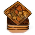 Set of 4 Honey Design 3-inch Square Sauce Dishes (Tunisia)