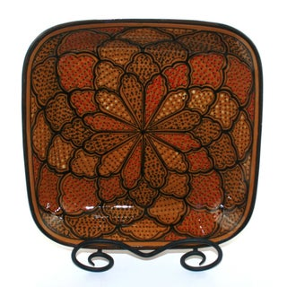 Honey Design 12-inch Square Serving Bowl (Tunisia)