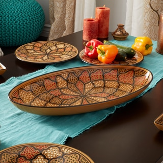 Extra Large 21-inch Honey Design Oval Platter (Tunisia)