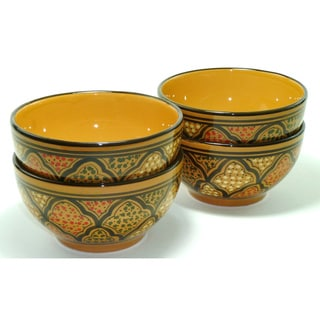 Set of 4 Honey Design 5-inch Soup/ Cereal Bowls (Tunisia)