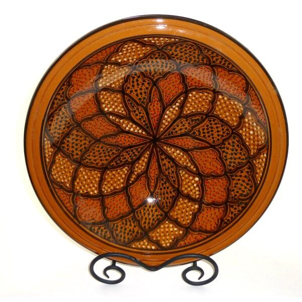 Honey Design 14-inch Ceramic Serving Bowl (Tunisia)