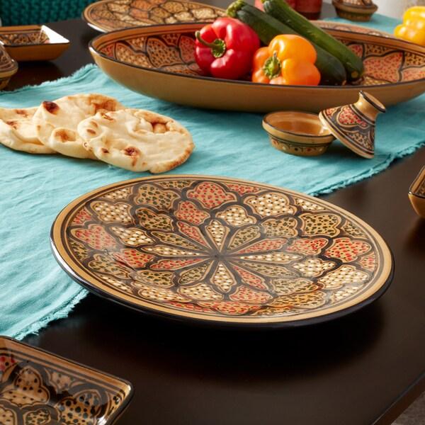 Set of 4 Honey Design 11-inch Dinner Plates (Tunisia) Glassware and Tableware Deals