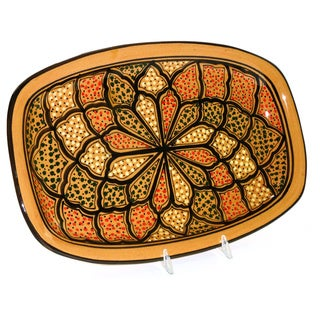 Rectangular 13-inch Honey Design Platter (Tunisia)