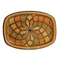 Rectangular 13-inch Honey Design Platter (Tunisia)