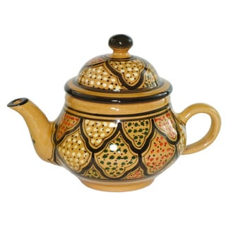 Le Souk Ceramique Honey Design 24-oz Teapot (Tunisia)