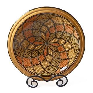 Small 12-inch Honey Design Serving Bowl (Tunisia)