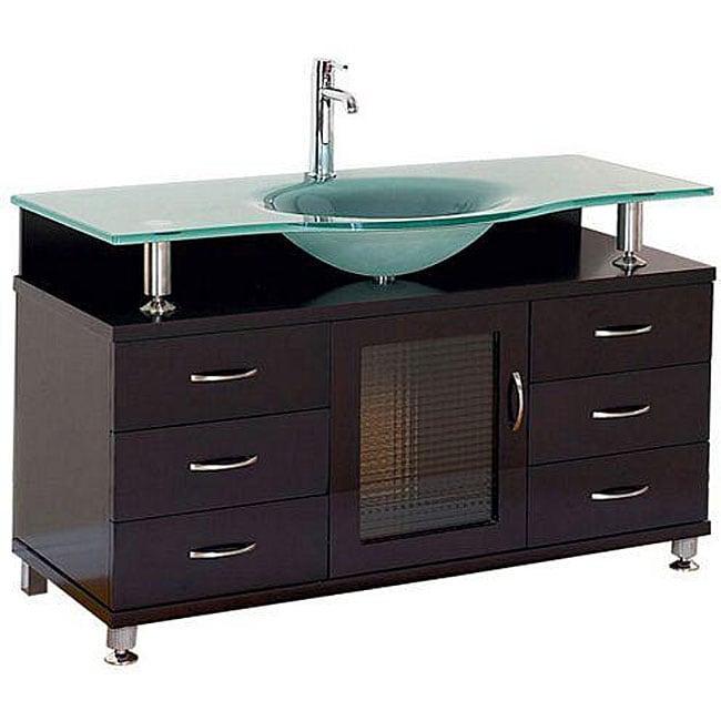 Design Element Huntington Contemporary Bathroom Vanity Set