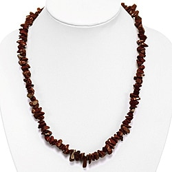 Rust Red Goldstone Bead Necklace (Thailand)