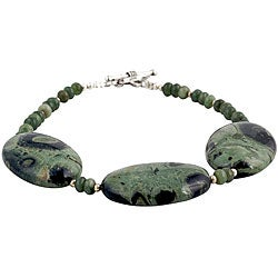 Silver and Agate Bracelet (Thailand)
