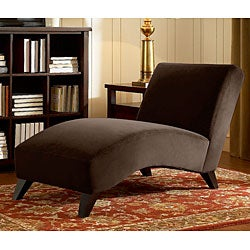Bella Chaise Dark Brown