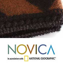 'Shadow Labyrinths' Alpaca Wool Throw Blanket (Peru)