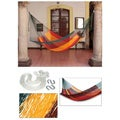 Cotton 'Red Wine Sunset' Single Hammock (Mexico)