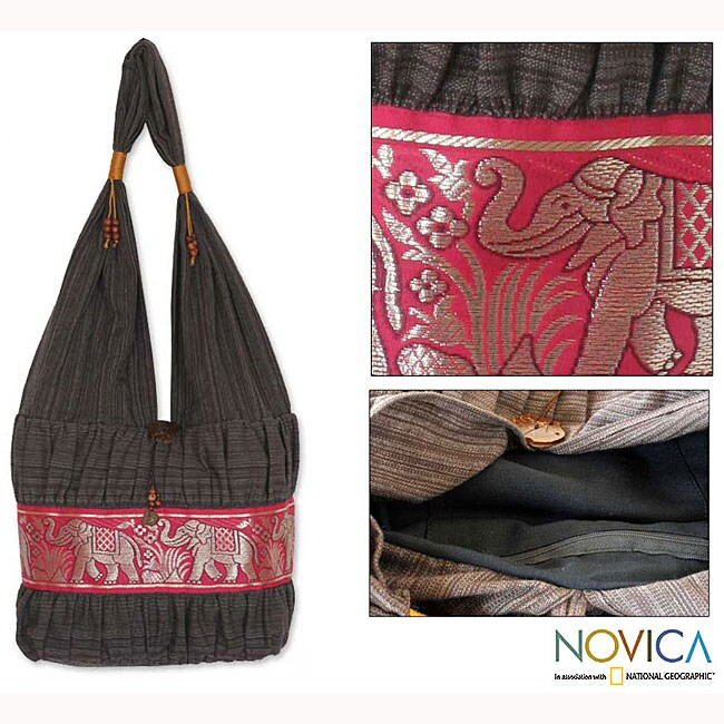 Cotton 'Scarlet Thai' Shoulder Bag (Thailand)