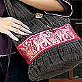 Cotton 'Scarlet Thai' Shoulder Bag (Thailand)