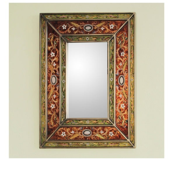 Handmade Cajamarca Warmth Wood Frame Mirror (Peru)