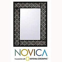 'Silver Blossoms' Mirror (Peru)