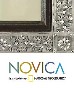 Nickel and Wood 'Serpentine' Picture Frame , Handmade in Thailand