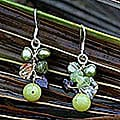 Sterling Silver 'Freshness' Pearl/ Peridot Earrings (Thailand)
