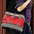 Silk/ Cotton 'Oriental Red' Sling Tote (Thailand)