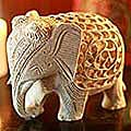 Soapstone 'Mother Elephant' Sculpture (India)