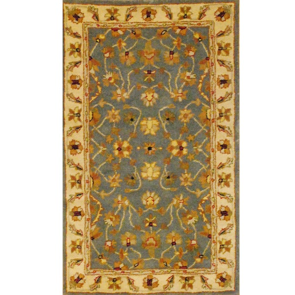 Indo Mahal Hand-tufted Blue/ Ivory Rug (3'3 x 5'3)