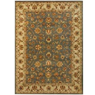 Herat Oriental Indo Hand-tufted Mahal Light Blue/ Ivory Wool Rug (8' x 11')