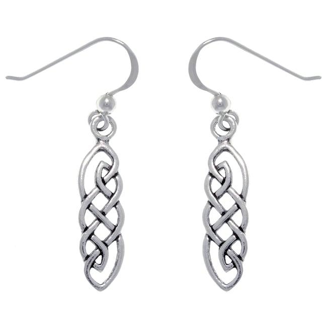 CGC Sterling Silver Celtic Imagination Woven Earrings