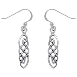 CGC Sterling Silver Celtic Imagination Woven Earrings