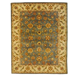 Indo Mahal Light Blue/ Ivory Rug (7'3 x 9'3)