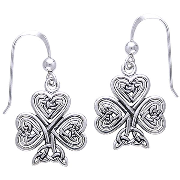 CGC Sterling Silver Celtic Shamrock of Faith Earrings