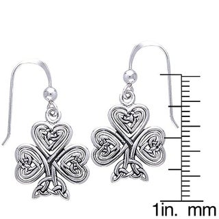 Carolina Glamour Collection Sterling Silver Celtic Shamrock of Faith Earrings