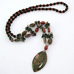 Unakite/ Glass Bead Necklace (China)
