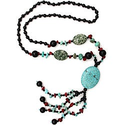 Turquoise Pendant/ Tassel Necklace (China)