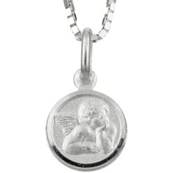Sterling Essentials Sterling Silver 18-inch Guardian Angel Necklace